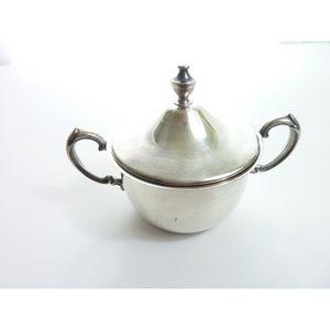 Vintage Silver plate Sheridan lidded sugar bowl
